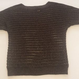 CHICO's short sleeved crocheted sweater